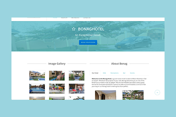 Bonag Hotel, INETS Company Limited, Software Development in Dar es Salaam, Tanzania